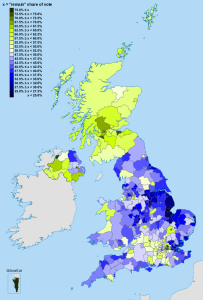 Map of Brexit referendum results