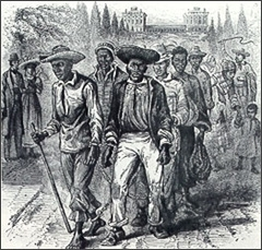 Slaves passing through Washington, DC in 1815