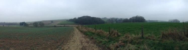The former Somme battlefield near Beaumont Hamel
