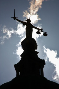 Lady Justice over the Old Bailey
