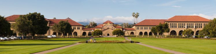Main quad at Stanford University