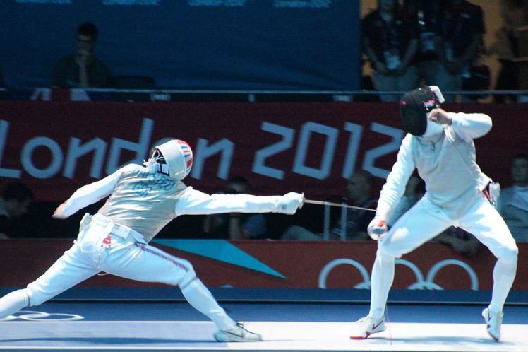 Men's team foil fencing in London