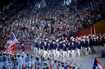 US team entering at 2008 Opening Ceremonies in Beijing