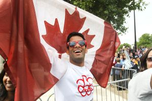 Canadian fan at 2012 Olympic triathlon