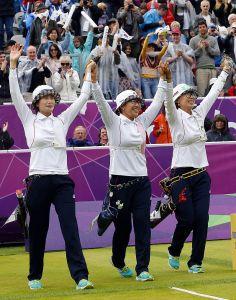Korean women's archery team in London