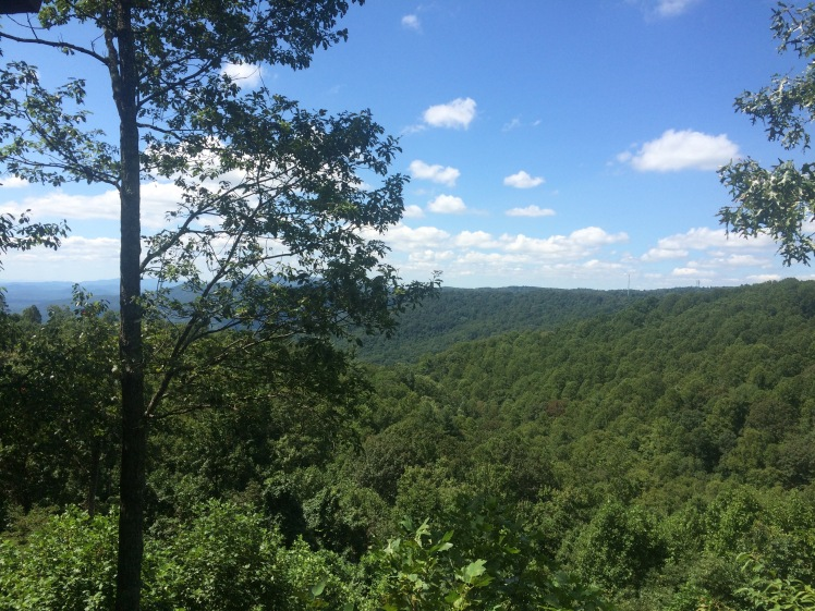 Looking out over the mountains of North Carolina...