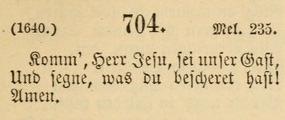 "1891 German version of ""Come, Lord Jesus"""