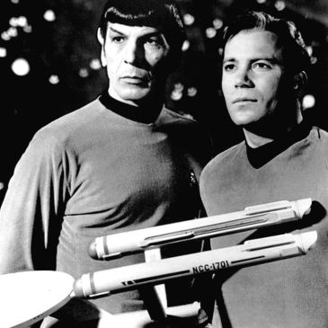 Nimoy and Shatner in a 1960s publicity photo