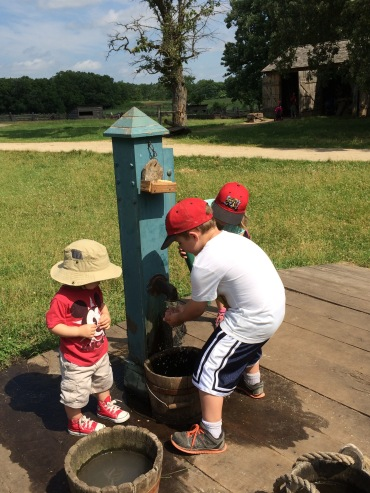 Pumping water at the Oliver Kelley Farm