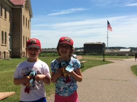 The kids with their History Hounds at Fort Snelling