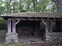 Shelter near hiking trail at Cumberland Gap