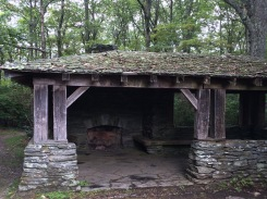 Shelter near hiking trail at Cumberland Gap