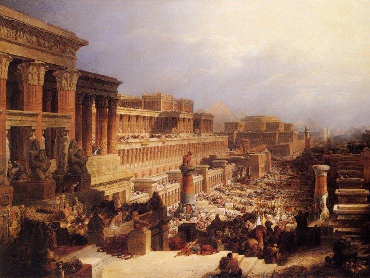 "David Roberts, ""Departure of the Israelites"" (1829) - Wikimedia"