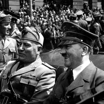 Benito Mussolini and Adolf Hitler, June 1940