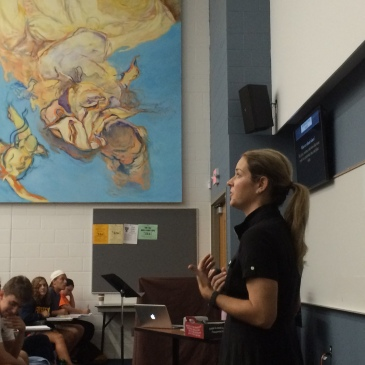 Amy Poppinga teaching