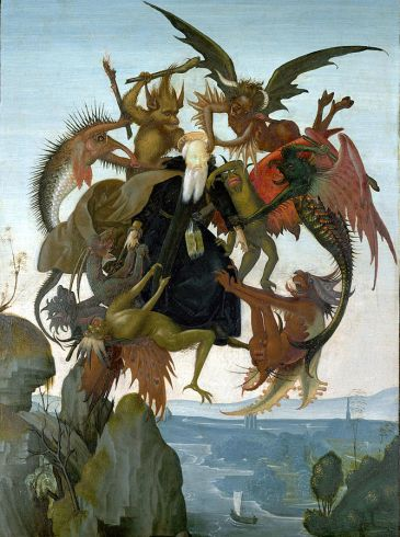 Michelangelo copy of Schongauer, Torment of St. Anthony