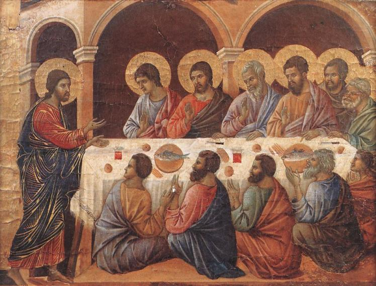 Duccio, [Jesus'] Appearance While the Apostles Are at Table