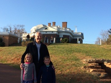 My kids and my dad at Monticello