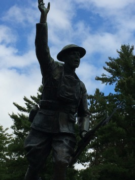 Doughboy statue in Ladysmith, WI