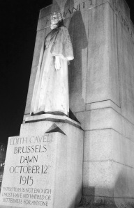 Edith Cavell monument in London