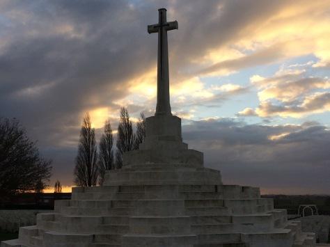 Cross of Sacrifice at Tyne Cot
