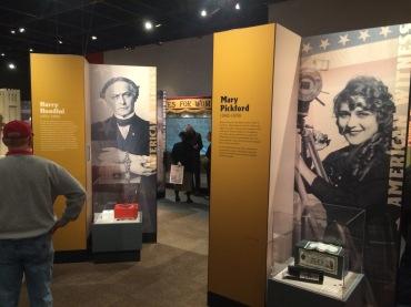 Harry Houdini and Mary Pickford displays