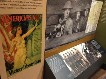 """Americans All"" display"