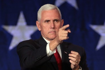 Mike Pence campaigning in 2016