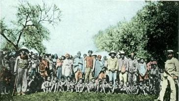 Herero prisoners ca. 1900