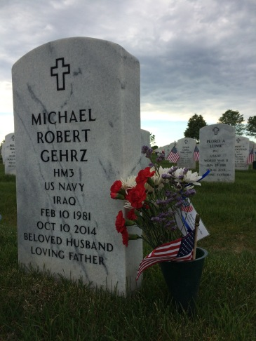 Headstone for my cousin, Mike Gehrz, who died in 2014
