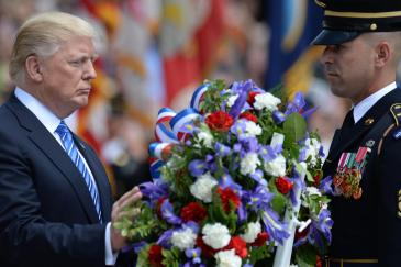 Trump at Memorial Day ceremony