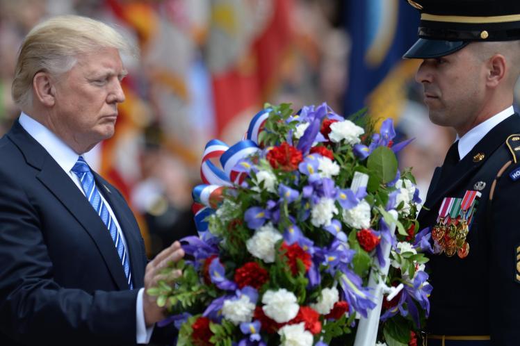 Trump at Memorial Day ceremony