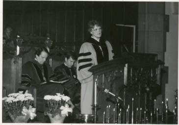 Jean C. Lambert preaching in the 1980s