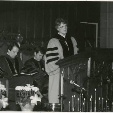 Jean C. Lambert preaching in the 1980s