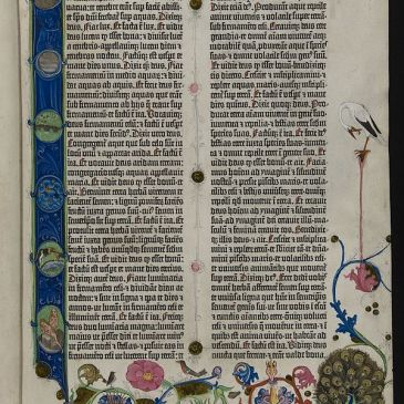 First page of Genesis in the Gutenberg Bible