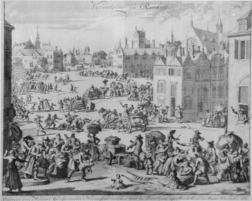 Huguenot families going into exile in 1661