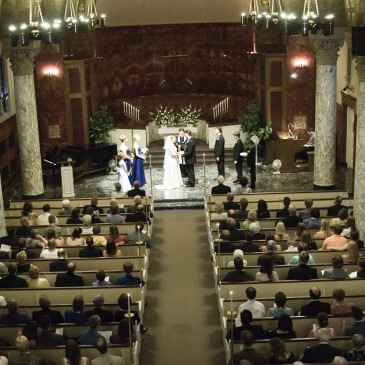 My wedding, in Northwestern's Nazareth Hall