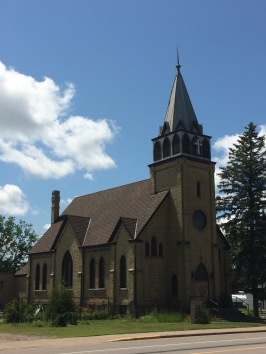 Old building of Bethel Lutheran Church in Little Falls, MN
