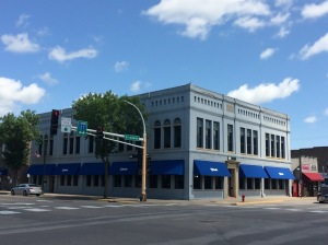 """The former """"Butler Block"""" in downtown Little Falls (now a U.S. Bank branch)"""