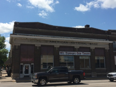 Former site of (German) American National Bank in Little Falls, MN