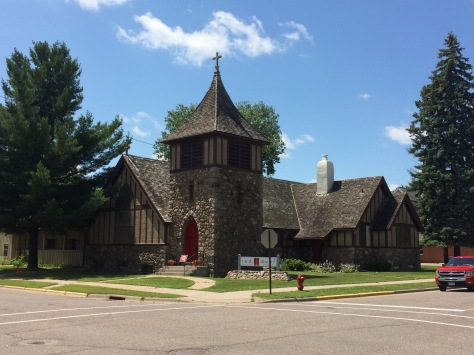 Old building of Church of Our Saviour in Little Falls, MN