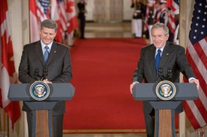 Stephen Harper and George W. Bush, 2006