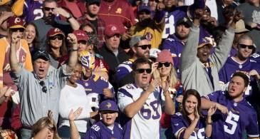 Minnesota Vikings fans in 2016