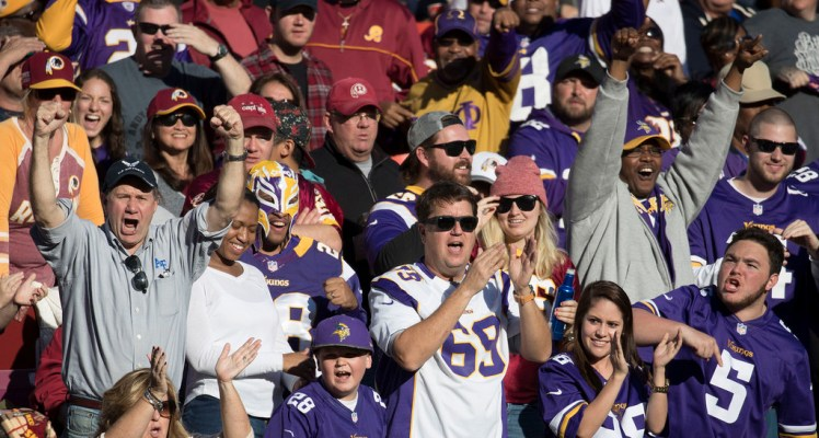 Minnesota Vikings fans in 2016