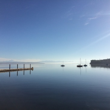 View from the wharf in Coupeville, WA