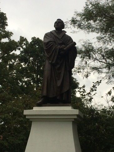 Statue of Martin Luther at Luther College in Decorah, Iowa