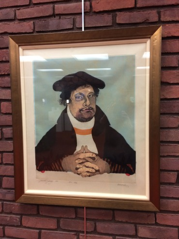 """Juenker Joerg"" print at Preus Library, Luther College"