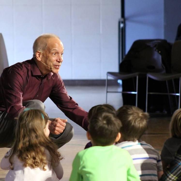 Mark preaching a children's sermon in Salem's contemporary service