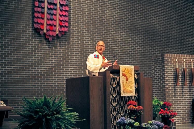 Mark preaching at Salem Covenant