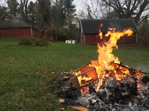 The burn pile brought back memories of wiener roasts as a child...